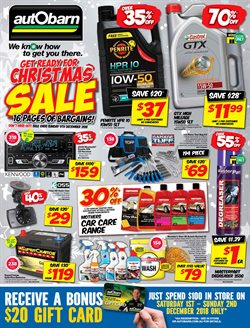 Cars, motorcycles & spares offers in the Autobarn catalogue in Canberra ACT