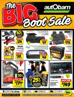 Cars, motorcycles & spares offers in the Autobarn catalogue in Sydney NSW