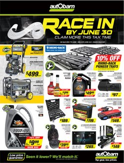 Cars, Motorcycles & Spares specials in the Autobarn catalogue ( 5 days left)
