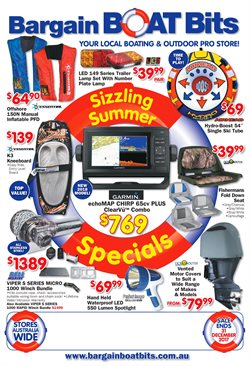 Offers from Bargain Boat Bits in the Melbourne VIC catalogue