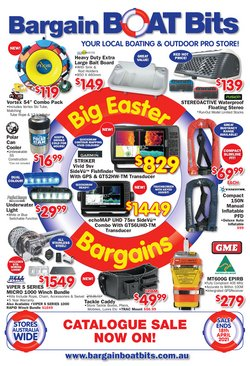 Easter specials in the Bargain Boat Bits catalogue ( Expires tomorrow)
