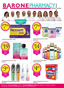 Offers from Barone Pharmacy in the Sydney NSW catalogue