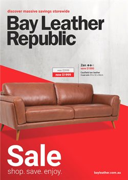 Offers from Bay Leather Republic in the Brisbane QLD catalogue