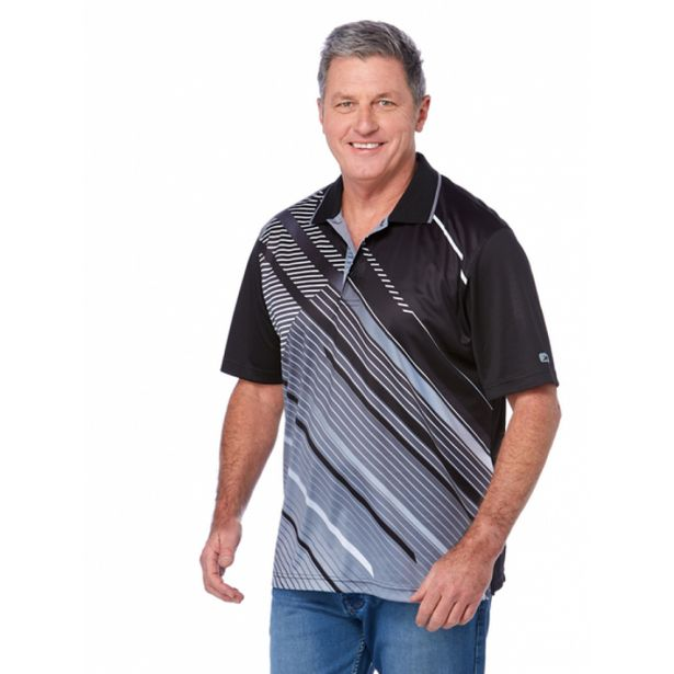 Cougars Black Grey Quik-Dry Sublimated Print Polo deal at $25