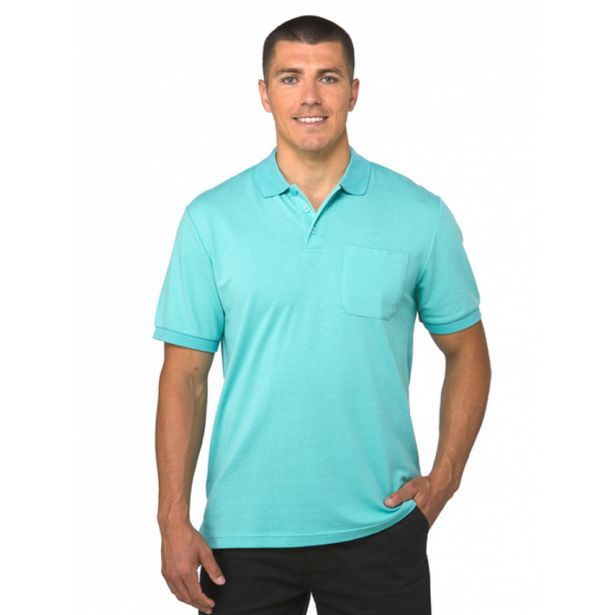 Lowes Plain Pastel Mint Stretch Polo deal at $19.95