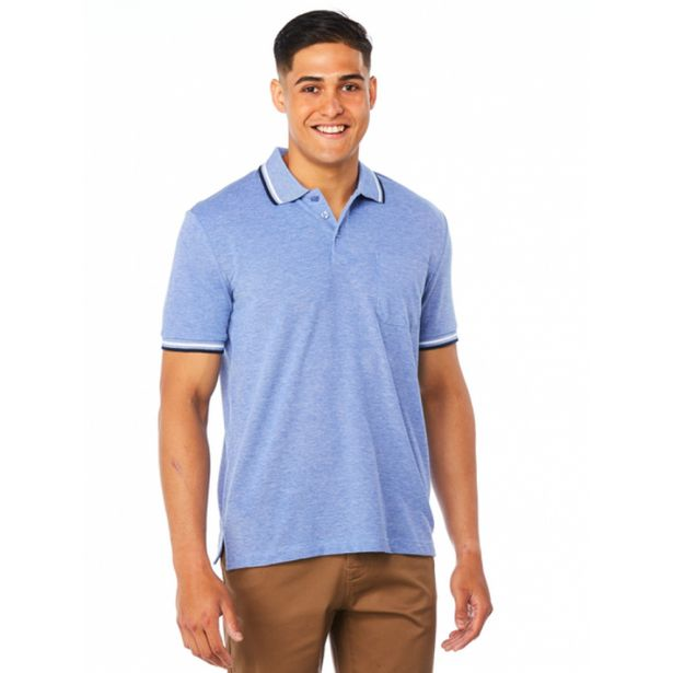 Lowes Blue Knitted Casual Polo deal at $19.95