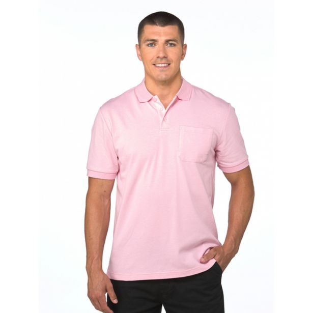 Lowes Plain Pastel Pink Stretch Polo deal at $19.95