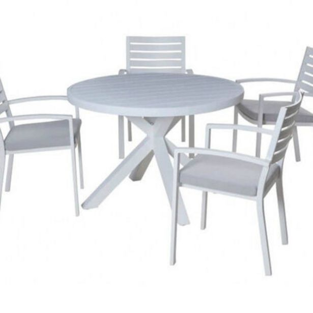 Boston-Jette 5 Piece Slatted Dining (White) deal at $1099
