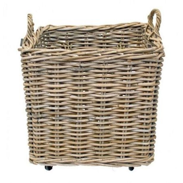 Wicker Basket With Wheels deal at $229