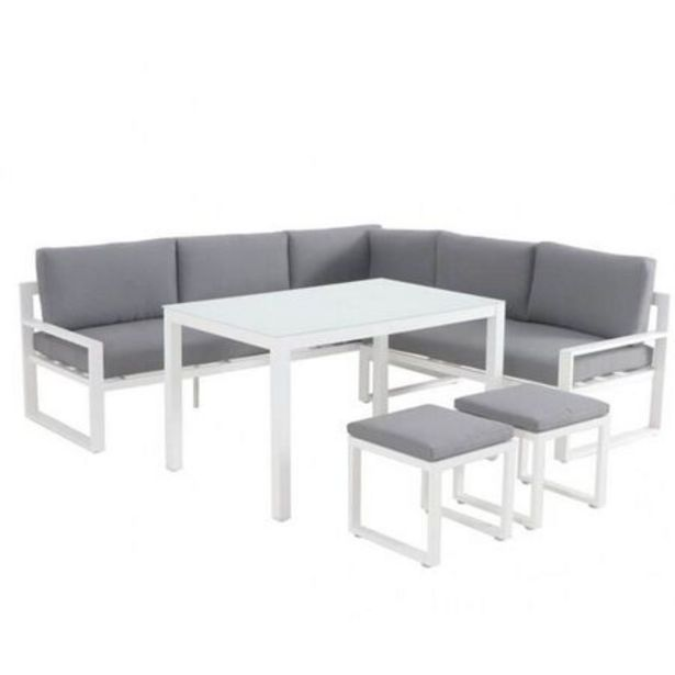 Patmos 5 Piece Low Dining Setting (White) deal at $1399