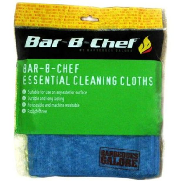 Bar-B-Chef Essential Cleaning Cloths deal at $12.22