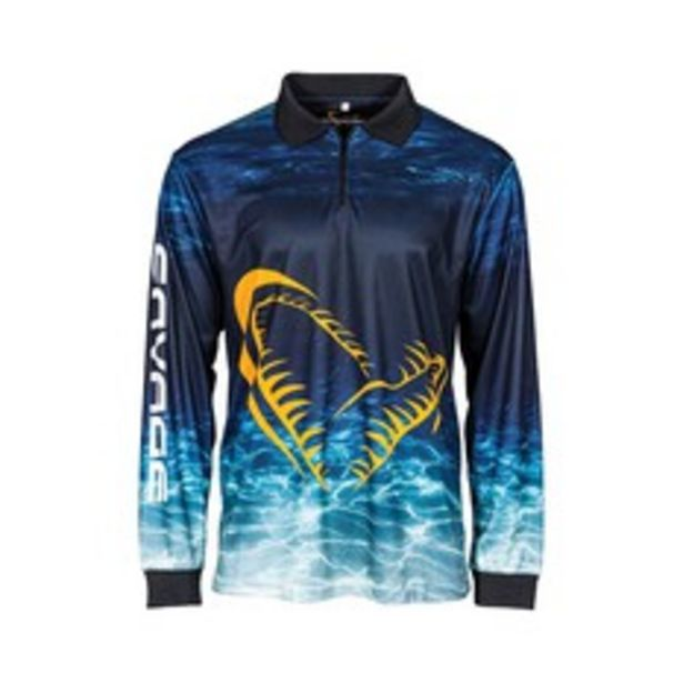 Savage Gear Men's Deep Blue Sublimated Polo deal at $89.99