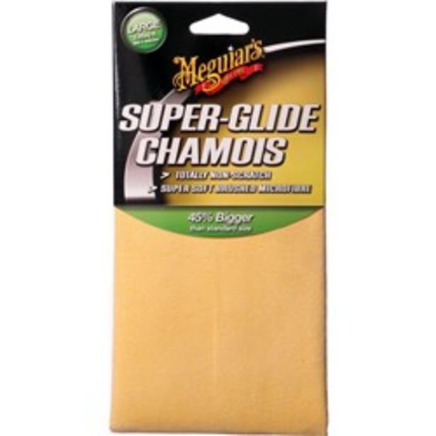 MEGUIAR'S AG6300 MICROWIPE SUPER-GLIDE CHAMOIS – LARGE deal at $29.95
