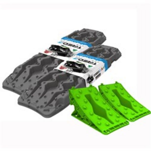 TRED GT RECOVERY DEVICE GUN GREY (2 PAIR) + GREEN WHEEL CHOCK (1 PAIR) deal at $349