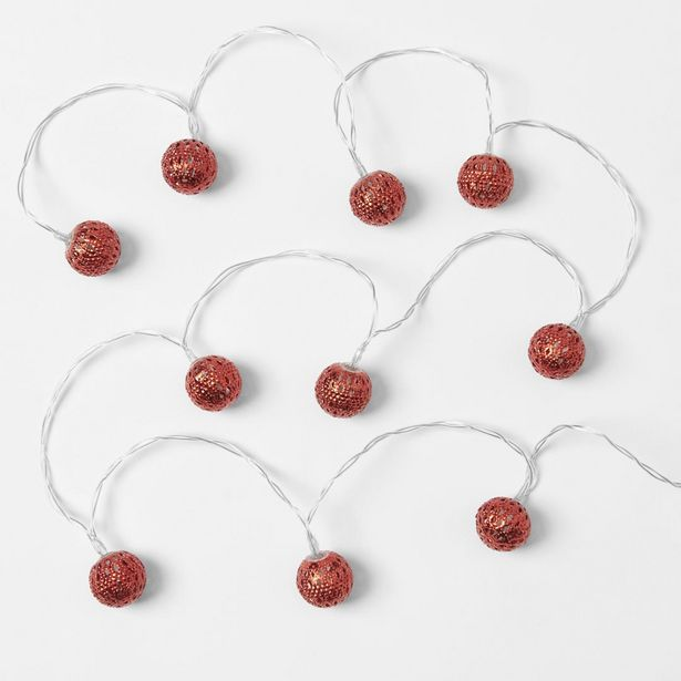 LED String Lights with Balls 2.8m deal at $13.99