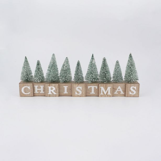 Christmas Block with Trees deal at $20.99