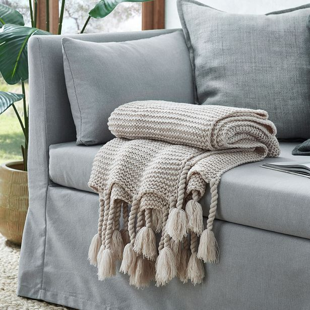 CHUNKY Throw - Stone deal at $49.95