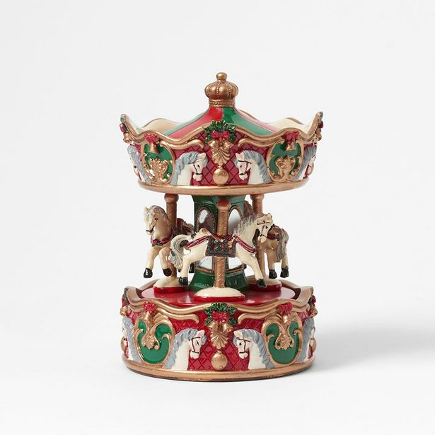 Musical Merry Go Round - Red/Gold/Green deal at $17.48