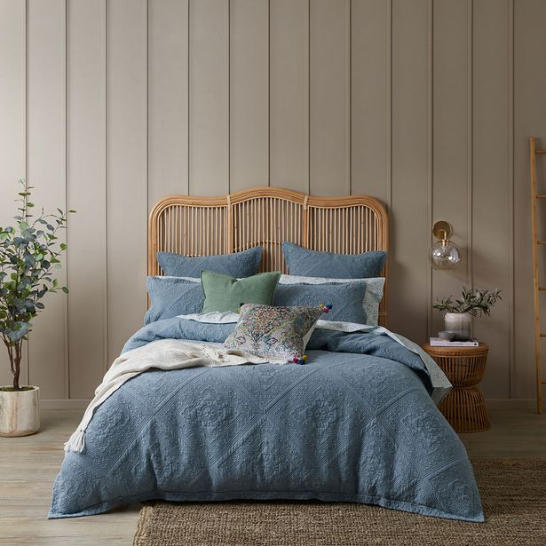 BIANCA Quilt Cover - Smoke Blue deal at $119.95