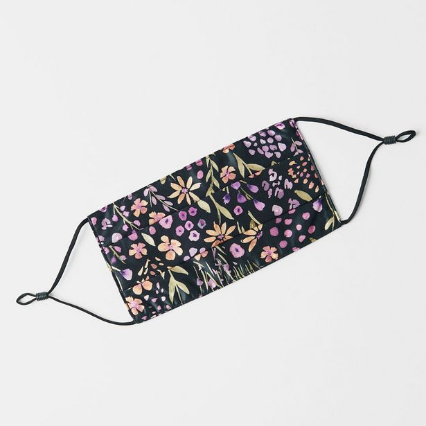 SILK Face Mask - Purple/Floral deal at $39.95