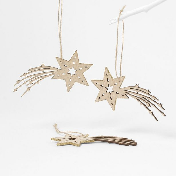 Wooden Shooting Star Dec Set of 6 deal at $6.99