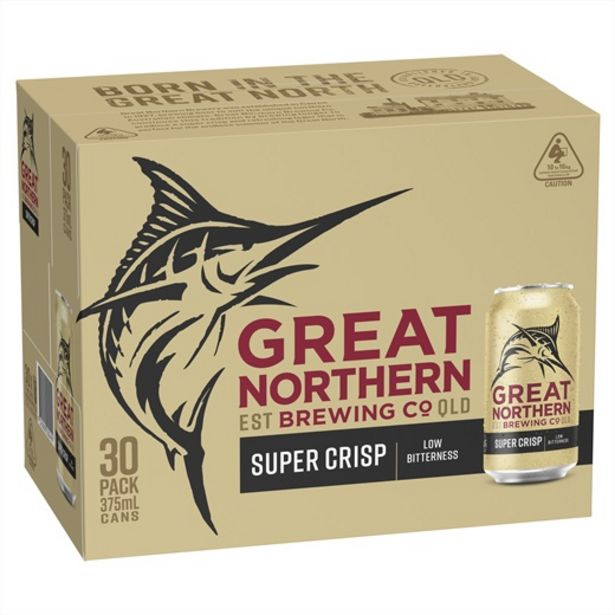 Great Northern Super Crisp Lager Block Can 375mL deal at $57