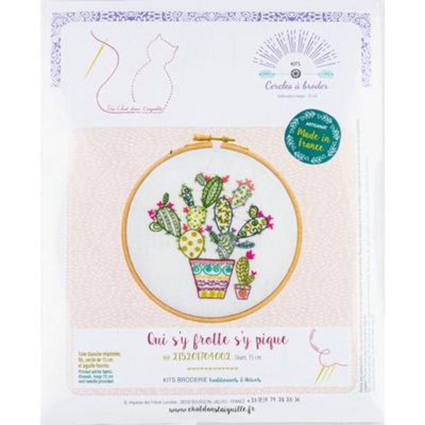 Cactus  - If you go looking for trouble you'll find it - Embroidery Kit 15cm deal at $59.99