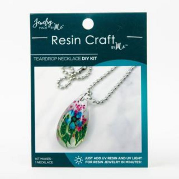 Jewelry Made by Me Resin Craft  Teardrop Necklace Mini Kit deal at $11.99