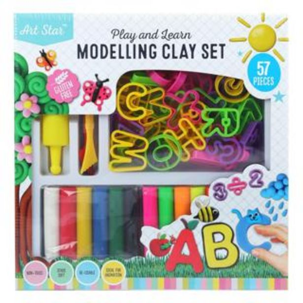 Art Star Play & Learn Modelling Clay Set 57 Pieces deal at $14