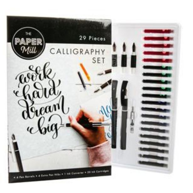 The Paper Mill Calligraphy Set 29pc deal at $16.99